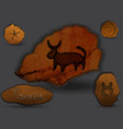 tauruszodiac in the form of cave painting vector image vector image