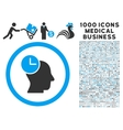 Time Thinking Icon with 1000 Medical Business vector image
