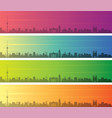 vilnius multiple color gradient skyline banner vector image vector image