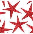watercolor sea life starfish pattern vector image vector image