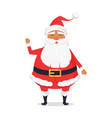 waving happy santa claus on white background vector image vector image