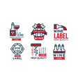 wine high quality retro labels collection package vector image vector image