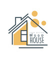 wood house logo template design eco friendly vector image vector image