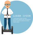 young businessman on segway vector image