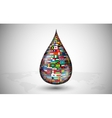 drop consisting of the flags countries vector image
