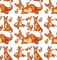 Seamless kangaroo vector image