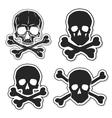 Set of Skulls and Crossbones vector image