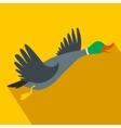 Wild duck flat icon vector image