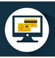 business financial credit card online icon vector image