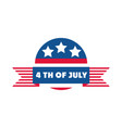 4th july independence day american democracy vector image vector image