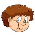A head of a fat young boy vector image vector image