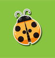 a ladybug sticker template vector image