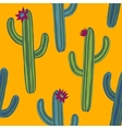 abstract seamless pattern with cactuses vector image vector image