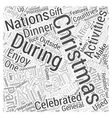 African Christmas Word Cloud Concept vector image vector image