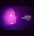 artificial intelligence concept banner design vector image