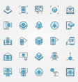 augmented reality blue icons ar technology vector image
