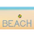 Beach background with sun umbrellas vector image vector image