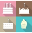 Birthday Cake Flat Web Icon vector image vector image
