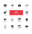 business concept seo - line design icons set vector image vector image