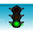 Cartoon style traffic light vector image vector image