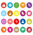 Chat conversation flat icons on white background vector image vector image
