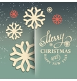 Christmas snow card vector image vector image