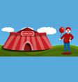 circus tent clown concept banner cartoon style vector image