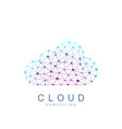 cloud computing logo concept database storage vector image vector image