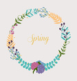 collection spring flowers leaves dandelion vector image vector image