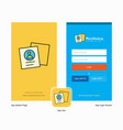company profile splash screen and login page vector image