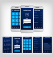 conception blue mobile user interface vector image vector image