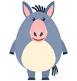 cute donkey with happy face vector image
