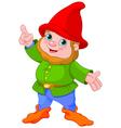 Cute Gnome presenting vector image vector image