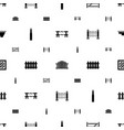defense icons pattern seamless white background vector image vector image