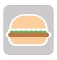 delicious american cheeseburger vector image