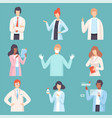 doctor set medical staff male and female vector image