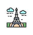 eiffel tower france landmark flat color vector image