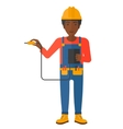 Electrician with electrical equipment vector image