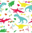 fany dinosaurs vector image vector image
