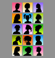 Female Avatar Silhouettes Set vector image vector image