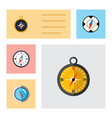 flat icon direction set of divider navigation vector image vector image