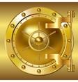 Gold Bank doors vector image