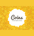 golden coins icons abstract vector image