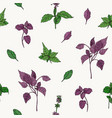 gorgeous botanical seamless pattern with green and vector image vector image