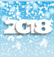 happy new year 2018 blue background vector image vector image