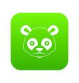 head of panda icon digital green vector image