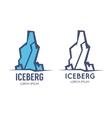 high iceberg logo icon vector image