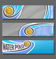 horizontal banners for water polo vector image vector image