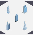 isometric skyscraper set of exterior building vector image vector image