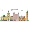 italy parma city skyline architecture vector image vector image